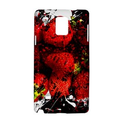 Strawberry Fruit Food Art Abstract Samsung Galaxy Note 4 Hardshell Case