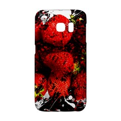 Strawberry Fruit Food Art Abstract Galaxy S6 Edge