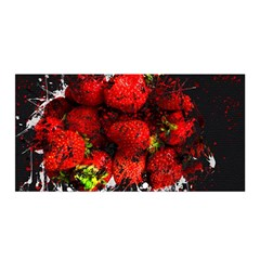 Strawberry Fruit Food Art Abstract Satin Wrap