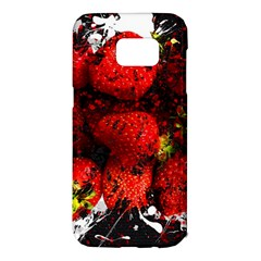 Strawberry Fruit Food Art Abstract Samsung Galaxy S7 Edge Hardshell Case