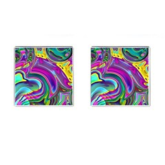 Background Art Abstract Watercolor Cufflinks (square) by Nexatart