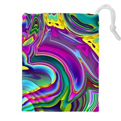 Background Art Abstract Watercolor Drawstring Pouches (xxl)