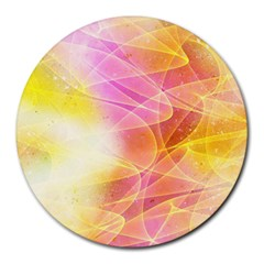 Background Art Abstract Watercolor Round Mousepads by Nexatart