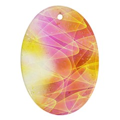 Background Art Abstract Watercolor Ornament (oval)