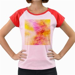 Background Art Abstract Watercolor Women s Cap Sleeve T Shirt