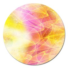 Background Art Abstract Watercolor Magnet 5  (round)