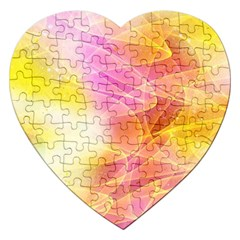 Background Art Abstract Watercolor Jigsaw Puzzle (heart) by Nexatart