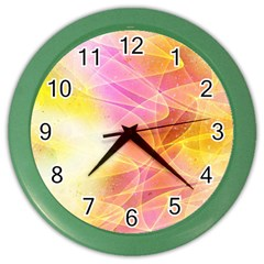 Background Art Abstract Watercolor Color Wall Clocks by Nexatart