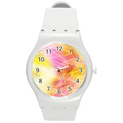 Background Art Abstract Watercolor Round Plastic Sport Watch (m) by Nexatart