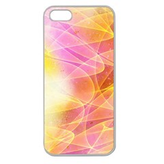 Background Art Abstract Watercolor Apple Seamless Iphone 5 Case (clear)