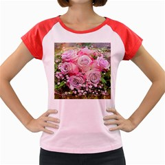 Flowers Bouquet Wedding Art Nature Women s Cap Sleeve T Shirt