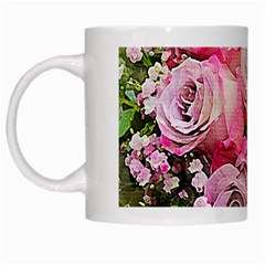 Flowers Bouquet Wedding Art Nature White Mugs by Nexatart