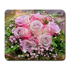 Flowers Bouquet Wedding Art Nature Large Mousepads