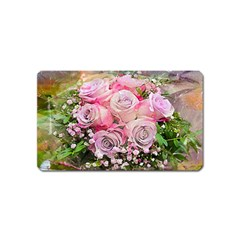Flowers Bouquet Wedding Art Nature Magnet (name Card)