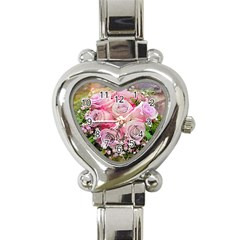 Flowers Bouquet Wedding Art Nature Heart Italian Charm Watch