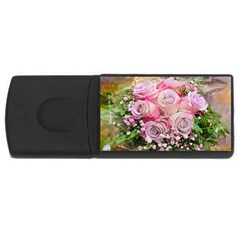 Flowers Bouquet Wedding Art Nature Rectangular Usb Flash Drive