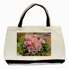 Flowers Bouquet Wedding Art Nature Basic Tote Bag (two Sides)