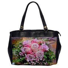 Flowers Bouquet Wedding Art Nature Office Handbags