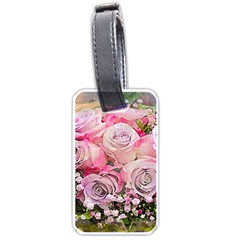 Flowers Bouquet Wedding Art Nature Luggage Tags (two Sides) by Nexatart