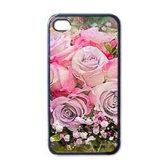 Flowers Bouquet Wedding Art Nature Apple Iphone 4 Case (black)