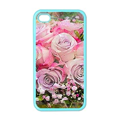 Flowers Bouquet Wedding Art Nature Apple Iphone 4 Case (color)