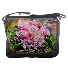 Flowers Bouquet Wedding Art Nature Messenger Bags