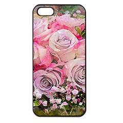 Flowers Bouquet Wedding Art Nature Apple Iphone 5 Seamless Case (black)