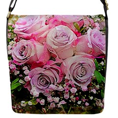 Flowers Bouquet Wedding Art Nature Flap Messenger Bag (s)