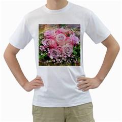Flowers Bouquet Wedding Art Nature Men s T Shirt (white)