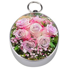 Flowers Bouquet Wedding Art Nature Silver Compasses