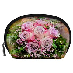 Flowers Bouquet Wedding Art Nature Accessory Pouches (large)