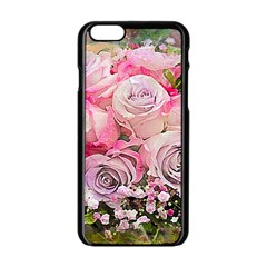 Flowers Bouquet Wedding Art Nature Apple Iphone 6/6s Black Enamel Case by Nexatart