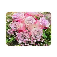 Flowers Bouquet Wedding Art Nature Double Sided Flano Blanket (mini)