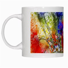 Flowers Bouquet Art Nature White Mugs