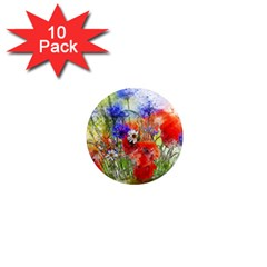 Flowers Bouquet Art Nature 1  Mini Magnet (10 Pack)