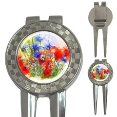 Flowers Bouquet Art Nature 3 In 1 Golf Divots