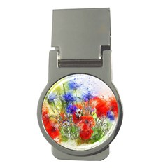 Flowers Bouquet Art Nature Money Clips (round)  by Nexatart