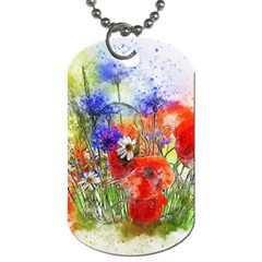 Flowers Bouquet Art Nature Dog Tag (one Side)