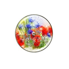 Flowers Bouquet Art Nature Hat Clip Ball Marker (4 Pack)