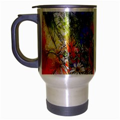 Flowers Bouquet Art Nature Travel Mug (silver Gray)