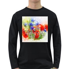 Flowers Bouquet Art Nature Long Sleeve Dark T Shirts
