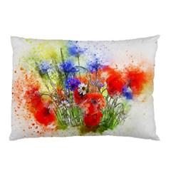 Flowers Bouquet Art Nature Pillow Case (two Sides)