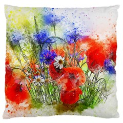 Flowers Bouquet Art Nature Large Cushion Case (one Side)