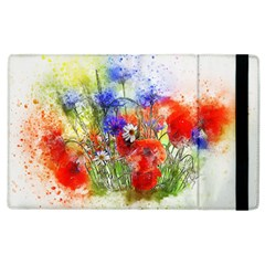 Flowers Bouquet Art Nature Apple Ipad 2 Flip Case by Nexatart