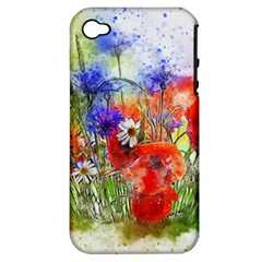 Flowers Bouquet Art Nature Apple Iphone 4/4s Hardshell Case (pc+silicone) by Nexatart
