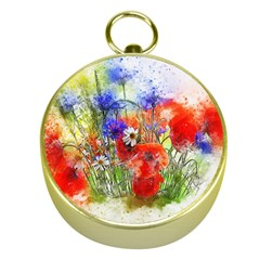 Flowers Bouquet Art Nature Gold Compasses