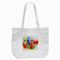 Flowers Bouquet Art Nature Tote Bag (white)