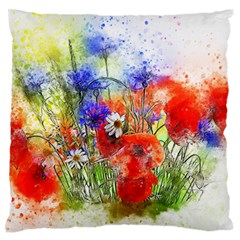 Flowers Bouquet Art Nature Large Flano Cushion Case (two Sides)