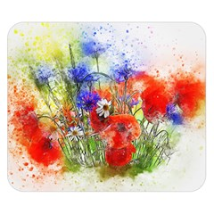 Flowers Bouquet Art Nature Double Sided Flano Blanket (small)