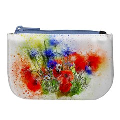 Flowers Bouquet Art Nature Large Coin Purse